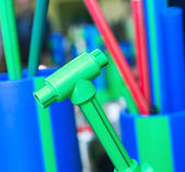 Polymer pipes and fittings — Stock Photo