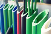 Samples of polymer pipes — Stock Photo