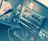 Generic truck dashboard — Stock Photo