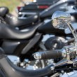 Motorcycle  handlebar — Stock Photo
