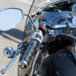 Handlebar of a motorcycle — Stock Photo