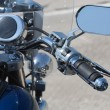 Stock Photo: Handlebar of a motorcycle