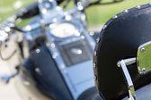 Motorfiets zadel — Stockfoto