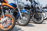 Colorful motorcycles — Stock Photo
