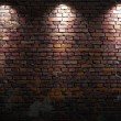 Brick wall with lights — Stockfoto