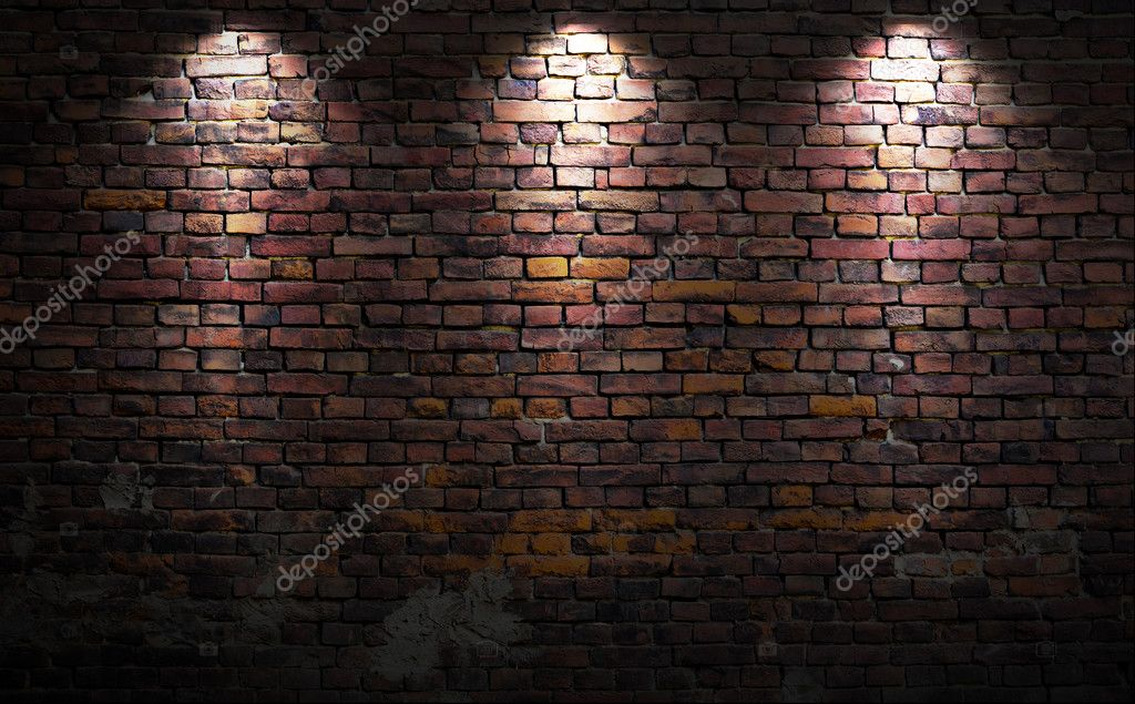 Wall Lights On Brick : Brick wall with lights Stock Photo ? Nomadsoul1 #26580327