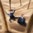 Businessmen fall into the trap — Stock Photo #26854171