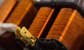 Electrical copper transformers — Stock Photo