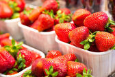 新鮮な熟したイチゴ — ストック写真