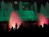 Night fountain show — Stock Photo