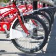 City bicycles — Stock Photo