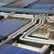 Water solar panels — Stock Photo