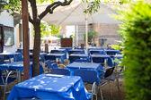 Restaurant tables — Stock Photo
