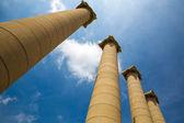 Majestic greek columns — Stock Photo
