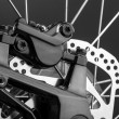 Closeup of disk brake of a mountain bicycle — Stock Photo