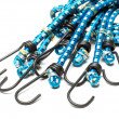 Stock Photo: Blue elastic bungee cords