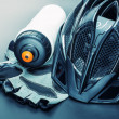 Bicycle accessories — Stockfoto