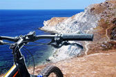 Bicycle in mountains — Stock Photo