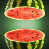 Watermelon cross sections — Stock Photo