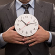 Man and clock — Stock Photo