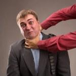 Aggressive office worker — Stok fotoğraf