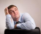 Thinking оffice worker — Zdjęcie stockowe