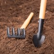 Garden Tools on Soil — Stock Photo #41012805