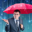 Stock Photo: Digital rain