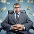 Stock Photo: Boss with money