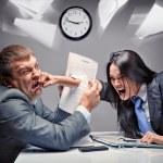 Office fight — Stock Photo