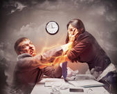 High stress fight — Stock Photo