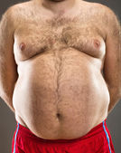 Fat man cropped view — Stock Photo