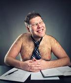 Smirking businessman — Stock Photo
