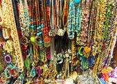 Stone jewelry counter — Stock Photo
