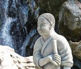 Monk statue — 图库照片