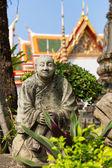 Stone monk statue — 图库照片
