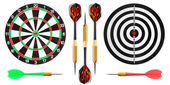 Dart board and darts — Stock Photo