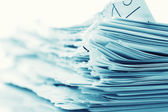 Ragged paper sheets — Stock Photo