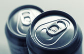Two aluminum cans — Stock fotografie