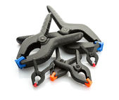 Set of plastic clamps — Foto de Stock