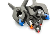 Plastic clamps — Stock Photo
