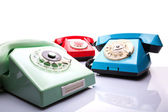 Vintage telephones — Stock Photo