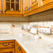 Beautiful custom kitchen interior design — 图库照片
