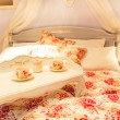 Nice bed in a hotel number — Stock Photo #49317421