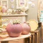 Nice ceramic vases in luxury interior — Stock Photo #49317483