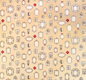 Vintage pattern with mirror icons. — Stock Photo