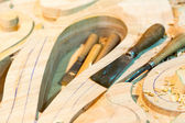 Carving tools with billets — Stock Photo