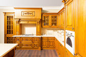 Wood brown kitchen interior design — ストック写真