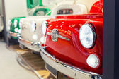 Great red oldtimer vintage car detail — Stock Photo