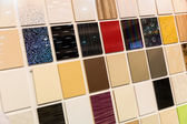 Samples of a ceramic tile in shop — Stock Photo